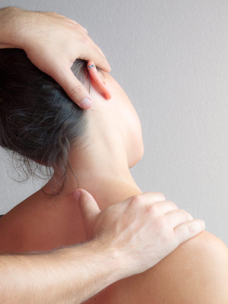 Fisioterapia Barrena craus manos en hombro