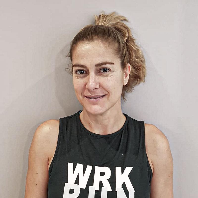 Olga Fernández entrenadora personal en Clinica de fisioterapia Barrena Craus